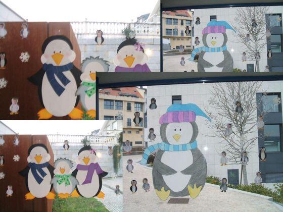 Llega el invierno escuelas infantiles cuqui os - Murales pintados en la pared ...