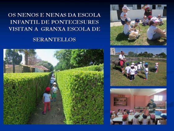Os nenos e nenas da escola infantil de Pontecesures visitaron a granxa escola de Serantellos