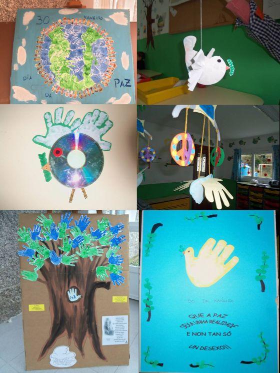 Celebración Del Día De La Paz En La Escuela Infantil De Pontecesures Escuelas Infantiles Cuquiños