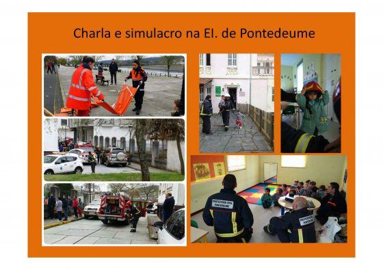 Charla e simulacro na escola infantil de Pontedeume (30/03/2015)