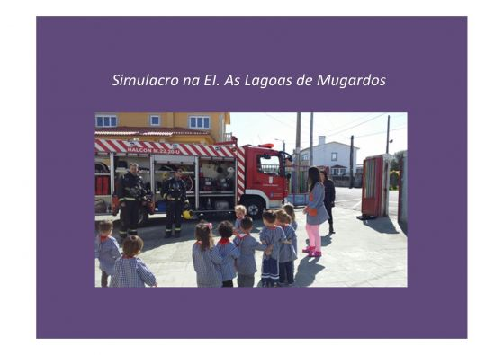 Simulacro de emerxencias na EI. As Lagoas (08/04/2015)